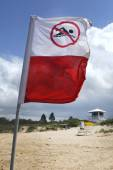 No swimming — Stock Photo