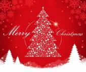 Merry Christmas tree shape — ストックベクタ