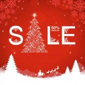 Christmas sale discount — Stock Vector