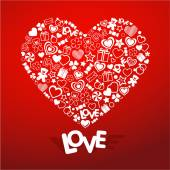 Love symbol — Stock Vector