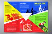 Brochure leaflet design tri-fold vector template. — Stock Vector