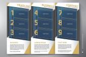 Brochure leaflet design tri-fold vector template — Vecteur