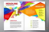 Brochure design two pages a4 vector template — Stock Vector