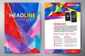 Brochure design a4 vector template — Stock Vector