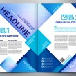 Brochure design two pages a4 vector template — Stock Vector #68596027