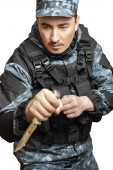 Soldiers in camouflage — Stock Photo
