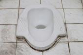 White old lavatory sit — Stock Photo