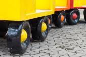 colorful of wheel train — Stok fotoğraf