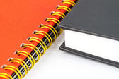 Gold binding notebook closeup — Stock Photo