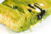 Pie with spinach  have mouldy — Stock Photo