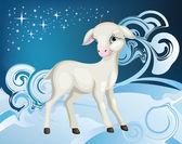 Goat winter — Stock Vector