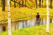 Paisaje de otoño en Pushkin, Rusia. — Foto de Stock