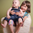 Little boy and girl — Stock Photo #56185151
