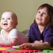 Little boy and girl — Stock Photo #56185323