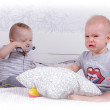 Two toddlers playing — Stock Photo #58430975