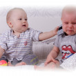 Two toddlers playing — Stock Photo #58431015