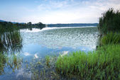 Lago al atardecer — Foto de Stock