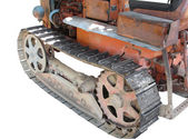 Old italian crawler tractor — Stock Photo
