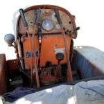 Dashboard old italian crawler tractor — Stock Photo #54733559