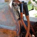 Dashboard of old italian crawler tractor — Stock Photo #54733565