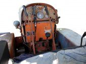 Dashboard old italian crawler tractor — Stock Photo