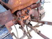 Rear view of old italian crawler tractor — Stock Photo