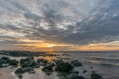 Beautiful sunrise on the beach in the Thailand — Stock Photo