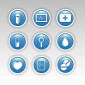 Icone di salute — Vettoriale Stock