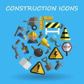 Construction flat — Stock Vector