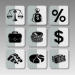 Black finance icons 2 — 图库矢量图片 #66936357