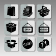 Black shopping icons 2 — Stock Vector #69406415