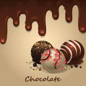 Chocolate candies — Stock Vector