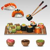 Sushi composition — Stock Vector