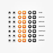 Multipurpose set of web icons for business, finance and communication. Vector graphic template. — Stock Vector