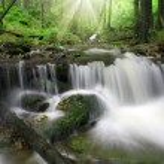 Waterfall in the national park Sumava — Stock Photo