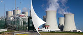 Nuclear power plant Temelin in Czech Republic Europe,corner of the page — Stock Photo