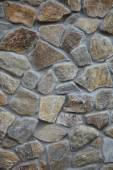 Wall with textured stone blocks — Стоковое фото