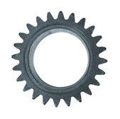 Metal black cogwheel isolated on white background — Stock Photo