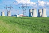 Nuclear power plant Dukovany in Czech Republic Europe — Foto de Stock