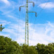 Power line and blue sky — Stock Photo #80037942