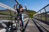Cycle bridge — Stock Photo