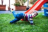 Children and slide — Stok fotoğraf