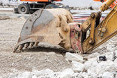 Detail of an excavator — Stock Photo