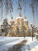 Zenkov Cathedral in Almaty, Kazakhstan — Stock Photo