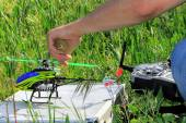 Radio Controlled Helicopter model hobby — Stock Photo
