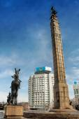 Republic Square in Almaty, Kazakhstan — Stock Photo