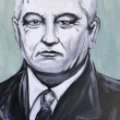 ������, ������: Graffiti portrait of Mikhail Gorbachev