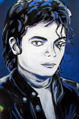 Retrato de Michael Jackson graffiti — Foto de Stock