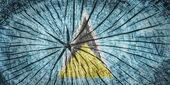 国旗的圣卢西亚 — 图库照片