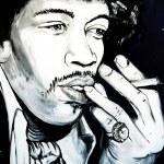 Постер, плакат: Graffiti Jimi Hendrix portrait